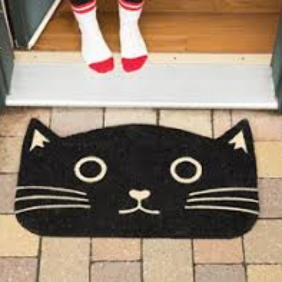 Now Designs Other - SOLD! Black Cat Door Mat by Now Designs